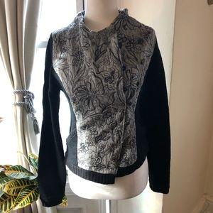 Anthro Asymmetrical Sweater Jacket
